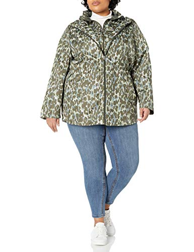 INTL d.e.t.a.i.l.s Damen Plus Size Midweight Pack-it-in-a-Pouch Vestee Jacket Daunenalternative, Mantel, Animo, 2X