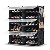 Shoe Rack, 6 Tier Shoe Storage Cabinet 24 Pair Plastic Shoe Shelves Organizer for Closet Hallway Bedroom Entryway