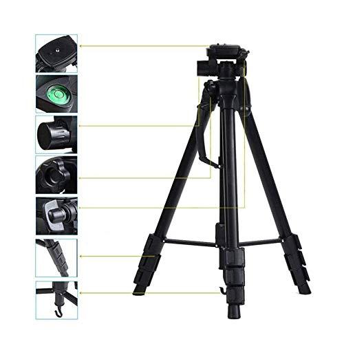 LMCLJJ Trípode de Cámara Trípode Liviano de Aluminio para Fotografía de Aluminio con 360° Rótula Compatible para Cámara Digital SLR Canon Nikon Grabación de Video