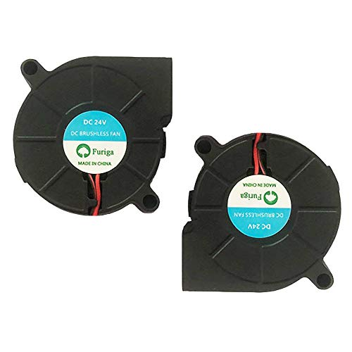 Furiga 5015 fan 24v 50X50X15mm Blower Radial Cooling Fan DC Brushless 30cm Cable for 3D Printer Heat Sink 2PCS