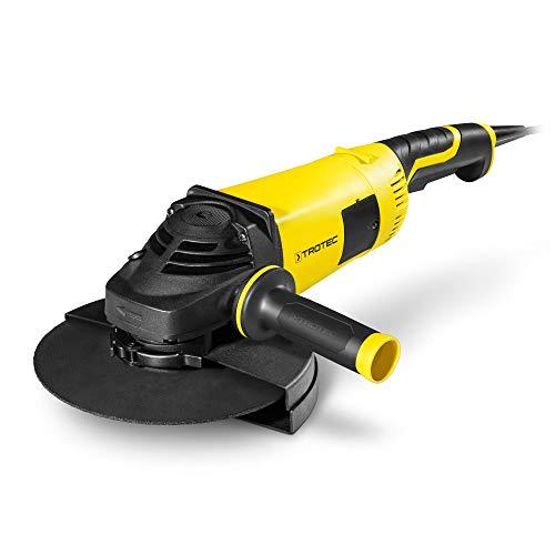 TROTEC Winkelschleifer PAGS 10-230 2000 W Zusatzhandgriff für 3 Positionen, 230mm Trennscheibe inkl. Koffer vibrationsarmer Lauf