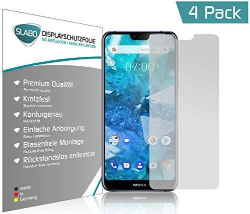 Slabo 4 x Bildschirmschutzfolie für Nokia 7.1 Bildschirmfolie Schutzfolie Folie Zubehör No Reflexion MATT
