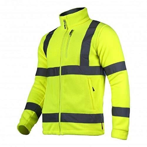 K&G Arbeitspullover LAHTI PRO L40109 NEON GELB Pullover Herren Winterpulli Fleecejacke Pulli Herrenpulli (XL)
