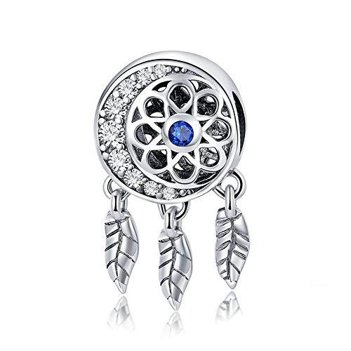 GaLon Encantos S925 de Plata del Grano de Las Mujeres Colector Ideal DIY Accesorios compatibles con Pandora y Pulseras Europeas Collares