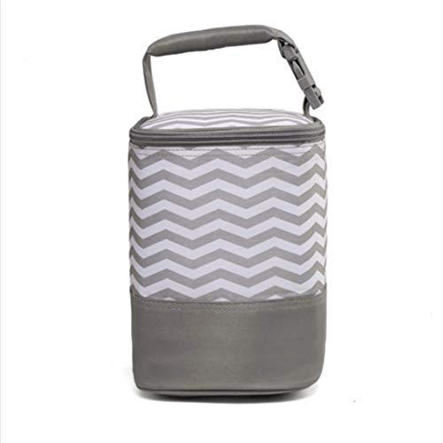 Alumuk Isoliertasche für Babyflaschen - Baby Flaschen Wärmer oder Kühltasche - Thermotasche für Muttermilch & Babynahrung - Faltbare Isotasche zum Einkaufen, Camping oder als Picknicktasche