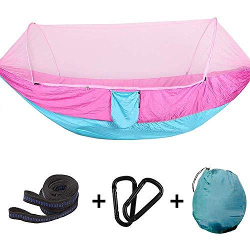 Ultra Ligera Hamaca con mosquitero Camping, Anti-Mosquito portátil Hammock, Columpio Dormir Hamaca Cama con Red para al Aire Libre, Senderismo, mochilero, Viajes,250 * 120cm