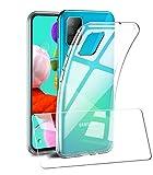 AILRINNI for Samsung A51 Phone Case, Clear TPU Silicone