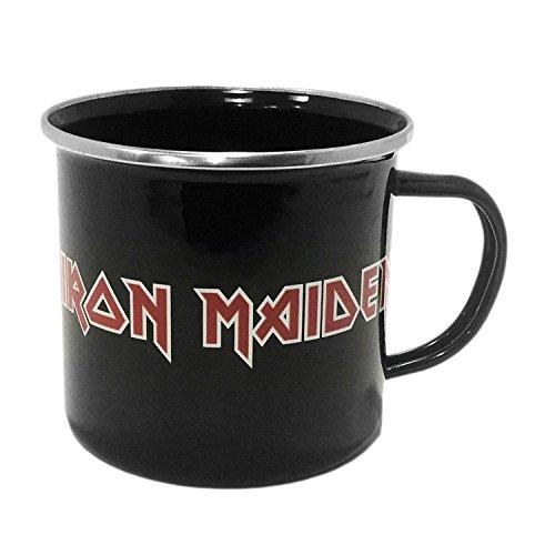 Close Up Iron Maiden XL Tasse Logo Emaille Kaffeebecher - 500 ml