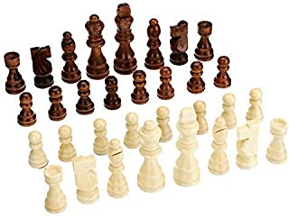 Chess International Chess 32 Chess Pieces Wooden Complete Chessmen International Word Chess Game Entertainment 77MM