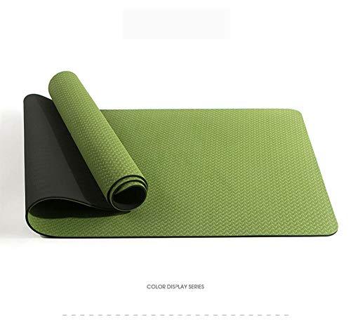 Yoga Mat manduka,Colchoneta de Yoga para Principiantes, colchoneta de Gimnasia Antideslizante-Verde Turquesa + Negro obsidiana_183 * 61 * 0.6cm,Espuma Extra Gruesa Colchoneta de Yoga