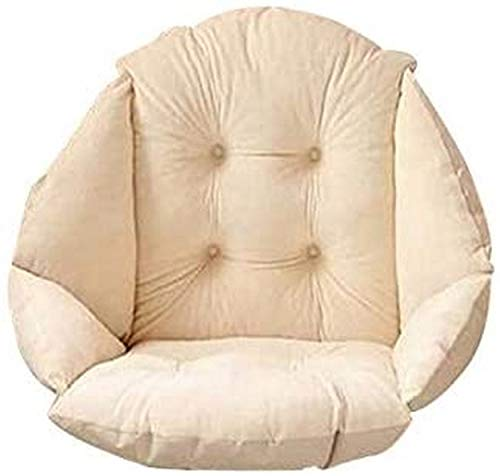 AOOPOO Plush Seat Cushion, Thick Chair Pillow with Ties Back Sciatica Relieve,Cushion Pads Seat Pillow Perfect for Car, Office Chair, Wheelchair - 19'*16' (Beige)