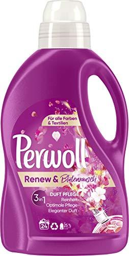Perwoll Renew & Blütenrausch, Feinwaschmittel, 24 (1 x 24) Waschladungen, für alle Farben und Textilien mit elegantem Duft