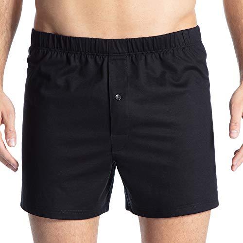 Calida Herren Cotton Code Boxershorts, Schwarz (Schwarz 992), Medium (Herstellergröße: M)