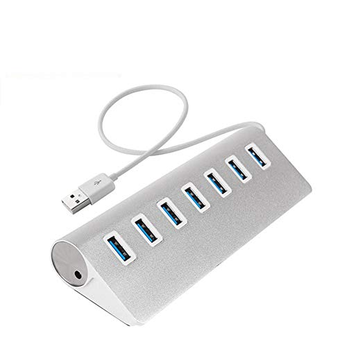 TSAUTOP USB HUB 3.0 Multi 4 7 Port with Power Adapter for Xia-omi Mac-Book Pro Air Computer PC Laptop Accessories Adaptador USB 3 Hab (Color : HUB 3.0 7 Ports)