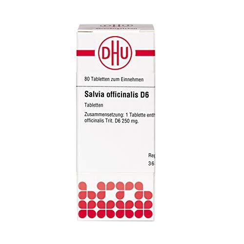 DHU Salvia officinalis D6 Tabletten, 80 St. Tabletten