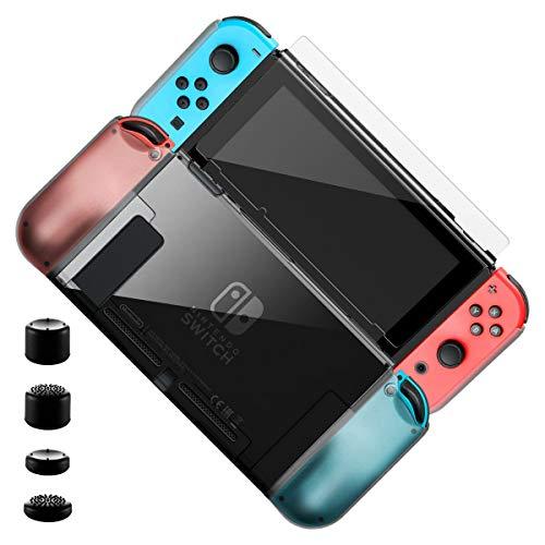 ELZO Cover per Nintendo Switch, Custodia per Nintendo Switch, Custodia Protettiva in Trasparente, AntiGraffio e con Assorbimento degli Urti per Ninten