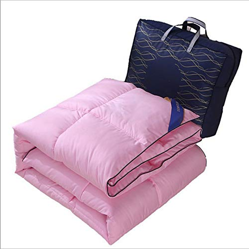 BKL Duck Feathers Duvets Luxurious Hotel Quality Super Soft Warm Cosy All Season Quilts (Pink,200 x 230 cm 3kg)