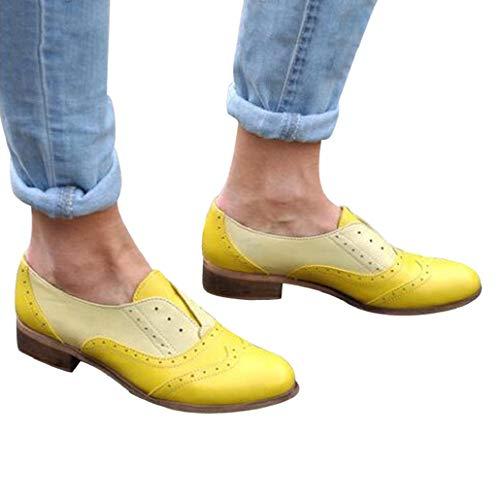 Chelsea Boots, laarzen dames korte schacht leer met hak korte comfortabele laarzen schoenen zwart geel bruin maat 35 - 43