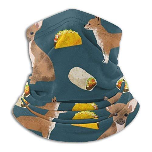 ULNIKU-T Chihuahua Tacos Alimentos Perro Polvo Protección Solar Resistente al Viento Unisex Rave BandaNeck Gaiter Tubo Headwear BandaSummer Protección UV Polaina Cuello Cara Bufanda