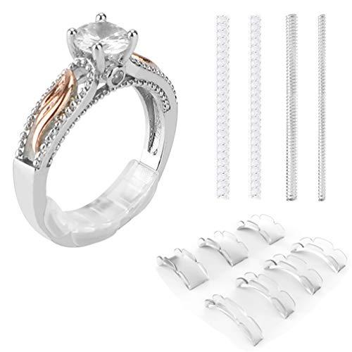 Coopache Invisible Ring Size Adjuster 2 Stili per anelli larghi - Ring Guard, Ring Sizer, 13 misure Adatta praticamente a qualsiasi anello