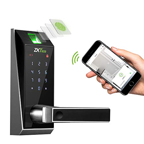 Keyless Door Locks with Bluetooth/Biometric Fingerprint Door Lock Electronic Keypad Digital Smart Locks for Home AL20B with ZK Smart Key app