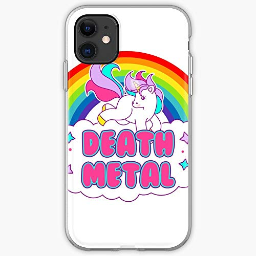 Metal Cuteness Stars Rainbow Pink Death Cute Unicorn - Phone Case for All of iPhone 12, iPhone 11, iPhone 11 Pro, iPhone XR, iPhone 7/8 / SE 2020… Samsung Galaxy