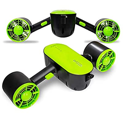Longtime Dual Propeller Under Water Swimming Scooter Dual Speed Control with Camera Mount with Child Safety Lock (Green)