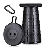 Portable Retractable Folding Collapsible Stool - Telescoping Foldable Camping Stools Seat, Lightweight Sturdy Stool, Small Step Simple Compact Chairs for Outdoor Indoor Max Load 280 Lbs