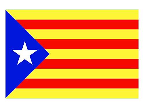ALOBA Senyera Estelada Catalunya, producte venut i distribuït des de catalunya 150x90cm. Venedor Català