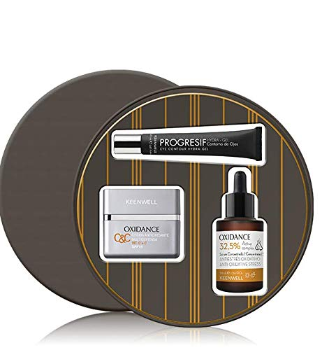 Keenwell Pack Oxidance Crema Antioxidante Multidefensa Vit. C+C SPF15 + Sérum Concentrado Antiestrés Oxidativo 32,5% Active Complex + Hydra-Gel Contorno de Ojos