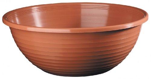geli Thermo Plastic Pot de Fleurs Standard Rond en Plastique - Terre Cuite 06, 44 cm