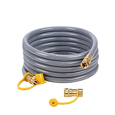 GASLAND Flexible Propane Gas Line, 12 Feet Natural Gas Grill Hose with 3/8 Male Flare Quick Connect/Disconnect Fittings, CSA Certified for Low Pressure Outdoor NG/Propane Appliance