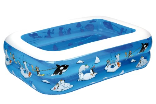 Wehncke 12450 My first pool - 4in1 piscina hinchable para niños, 143x106x36cm