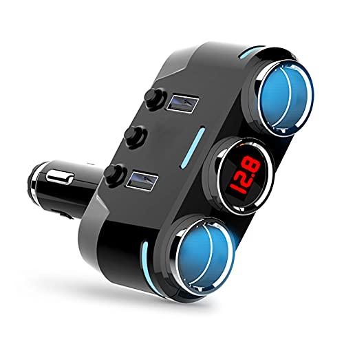 LINGLING Peter LI 2 USB Port 2 Way 3.1A Azul LED CUCHO CIRTARIO COMENTARIO COMENTARIO COVISIÓN HUB Adaptador de Corriente 1 2V-24V Ajuste para iPad Smartphone DVR GPS