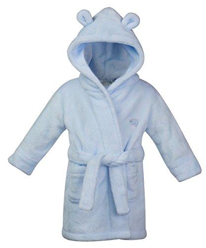 BABY TOWN Kinder-Bademantel aus weichem Fleece, 6–24 Monate (6–12 Monate, blau)