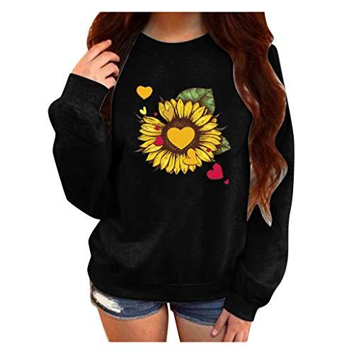 Damen-Sweatshirt, langärmelig, Rundhalsausschnitt, modisch, braun Medium