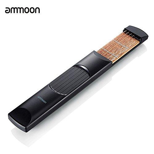 ammoon Tasca portatile chitarra acustica di pratica di gadget Chord Trainer 6 String 6 Fret modello per principianti