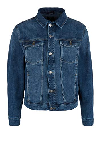 s.Oliver RED Label Herren Jeansjacke mit Waschung Late Lunch Blue XL