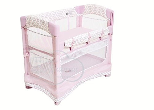 Arm's Reach Concepts Mini Ezee 3-in-1 Bedside Bassinet - Coterie/Pink