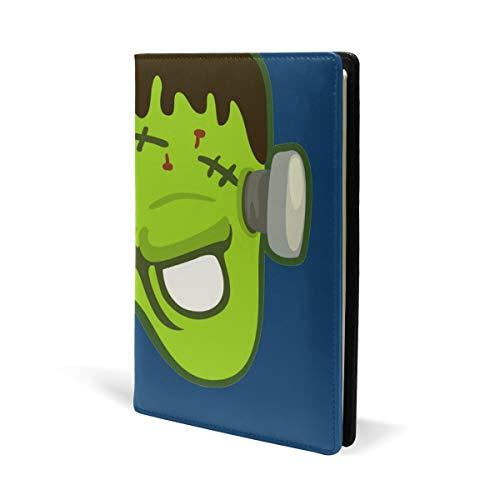 Divertida máscara de Frankenstein para Halloween, de piel, para la escuela, oficina, cuaderno de texto, tapa dura, A5, 5.8 x 8.7 pulgadas, para niñas y niños