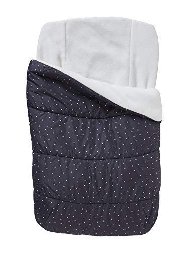 VERTBAUDET Warmer Fußsack für Babyschalen schwarz/dreiecke ONE SIZE