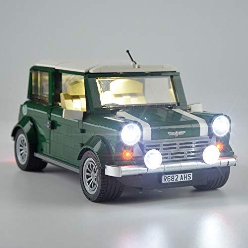LED-Beleuchtungsset für Creator Expert - Klassische Mini Cooper-Bausteine, kompatibel mit Lego 10242 (nicht im Lieferumfang enthalten)