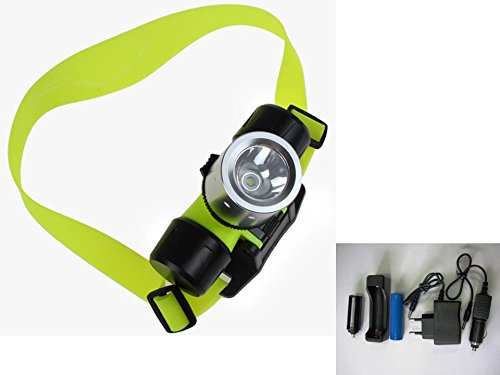 Linterna Cabeza Frontal LED, Sumergible e Impermeable, Bater