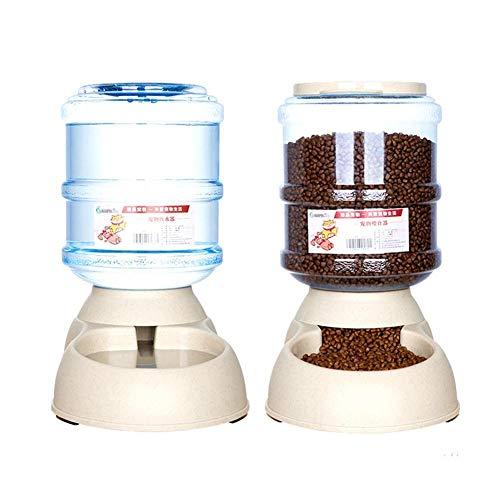 Toruiwa - Distributore di cibo e acqua per gatti automatico, per gatti, crocchette per cani, distributore di acqua, accessori per animali