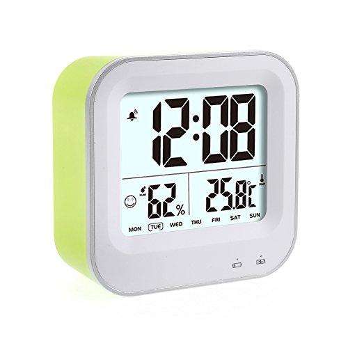 Wecker, LED wiederaufladbarer LCD Digital Alarm Wecker mit intelligentes Nachtlicht...