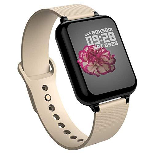 WFQ Armbanduhr Wasserdicht Smart Watch mit Mehreren Herzfrequenz-Monitoren Sport Fitness Tracker Modell Mann Frau Hinzufügen 16 GB TF-Karte Gold