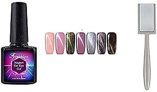 Frenshion 10ml 7Pcs Magnetic Cat Eye Gel Polish 3D Gel Nail Polish Soak Off UV LED Nail Art Kit Set