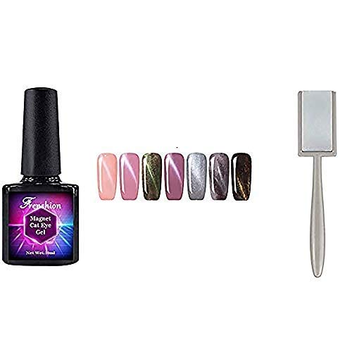 Frenshion 10 ml 7 Unids Esmalte de Uñas de Gel de Ojo de Gato Magnético Esmalte de Uñas de Gel 3D Soak Off Kit de Arte de Uñas LED UV