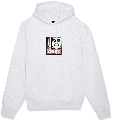 Obey Hoodie Exclamation Point Größe: L Farbe: Heather Grey