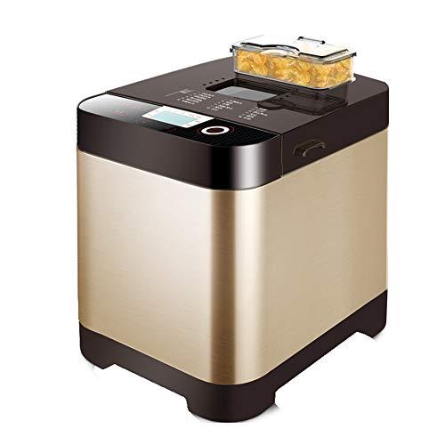 Huishoudelijke multifunctionele broodmachine, compacte snelle broodbakmachine Volautomatisch touchscreen LCD-scherm 18 menu's Afspraak Antikleef broodpan Geschikt voor 4-5 personen